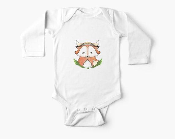 Viking Fox Onsie for Newborns and Babies