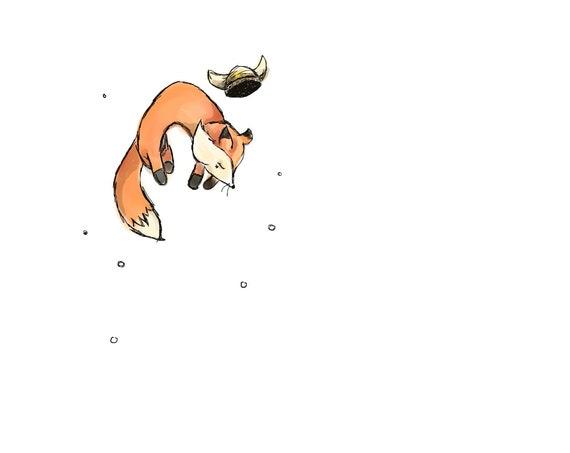 Snow Friendly Fox