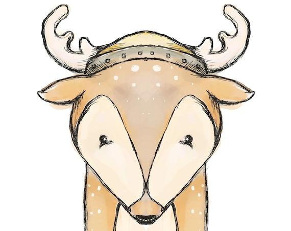 Viking deer Eikthyrnir