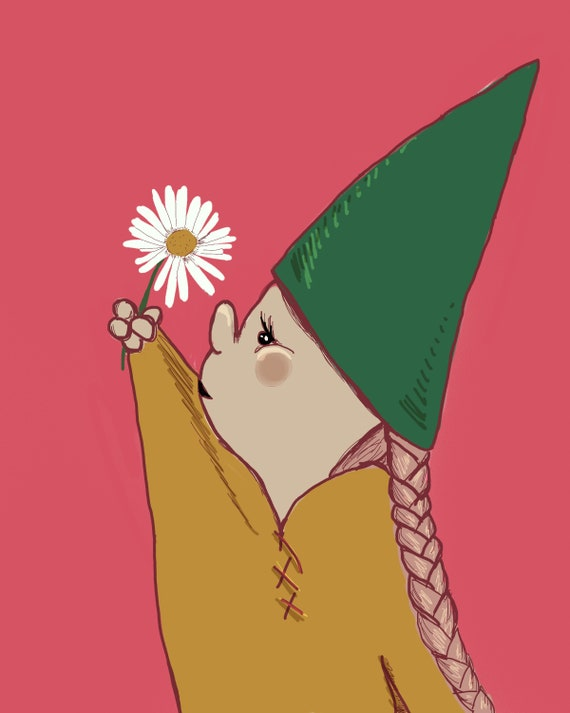 Flower Loving Gnome