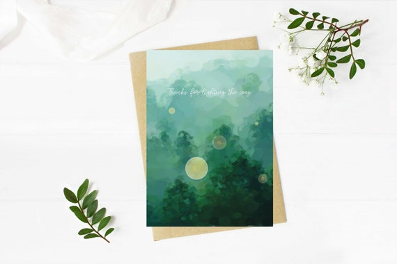 Digital Download print at home greeting card  - blank inside thinking of you, thank your for lighting the way