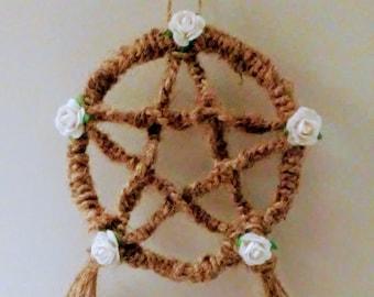 White Rose Pentacle decoration