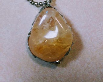 Charged Tumbled Citrine Pendant