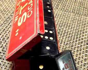 Vintage dominoes set. Wills Star Cigarettes