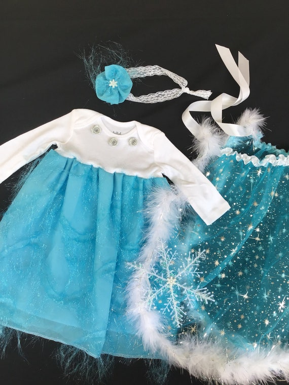 Ice princess Newborn Photo Shoot 3 PIECES Elsa and Anna. Frozen Baby Dress Princess Elsa Inspired Photography Props Ice Queen