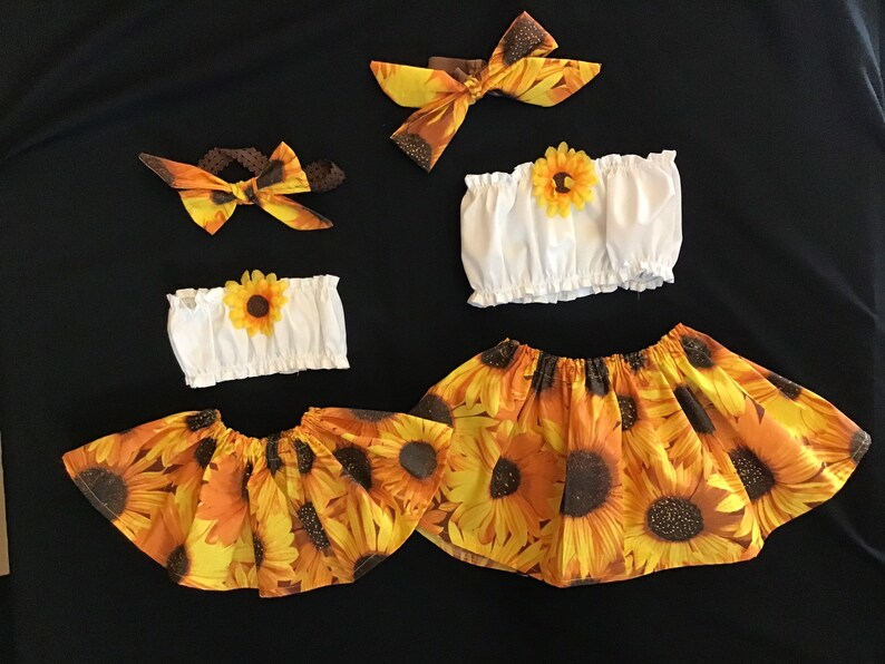 Easter Outfit Sunflower baby Top Daisies Crop Top ONLY All Sizes Little Miss Sunshine