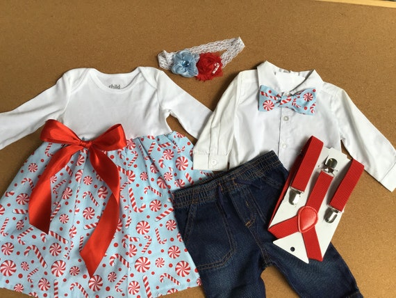 596c32073dbb 6 PIECES. Boy and Girl TWIN Outfits. Boy and Girl Christmas