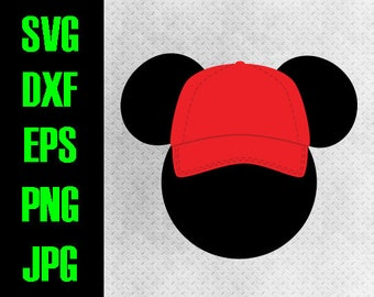 Mickey head Baseball hat - svg 2b6178d3b044