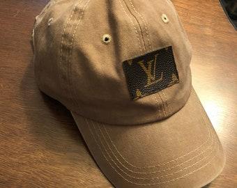 Custom Repurposed Louis Vuitton Baseball Cap 53b90f767b17