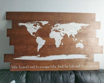 Wooden world map etsy wooden world map gumiabroncs Images
