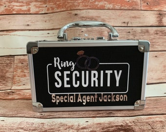 RING SECURITY Briefcase Only - Ring Bearer Case Limited time FREE Personalization!! sunglasses extra charge. Combination, keyless, lockable!