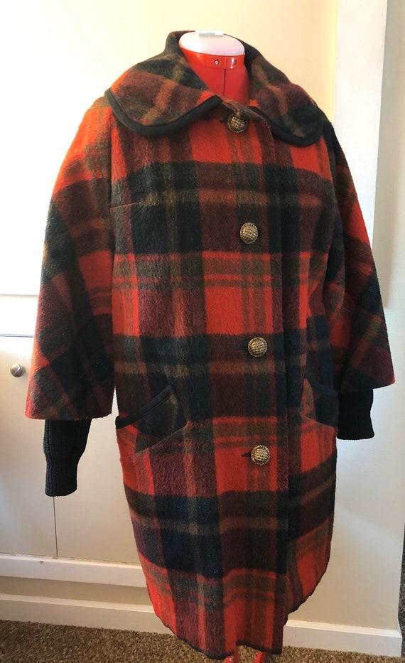 Vintage 1960s red plaid Minnesota Woolen coat, Wom