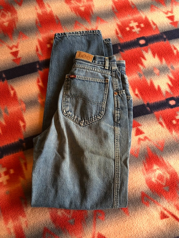 Women's vintage Lee high waisted jeans, mom jeans,