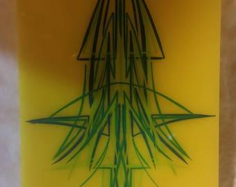 Pinstripe acrylic panel