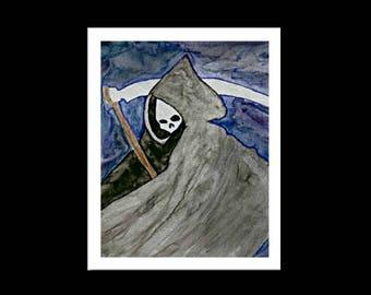 Grim Reaper Print, Limited Edition, Grim Reaper Painting, Grim Reaper Art, Grim Reaper, Reaper Art, Reaper Painting, Reaper, Gothic Print