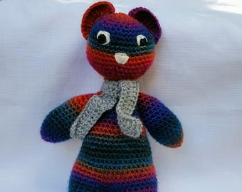 Rainbow Teddy Bear - Crochet
