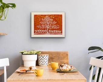 Warli Art - Tree of life  - 18x24