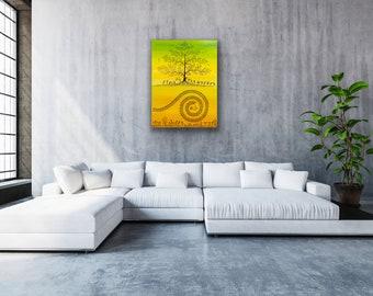 Warli Art - Tree of Life 30 x 40