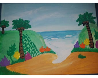 Beach in Hawaii painting