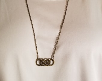 Antique Gold Infinity Necklace