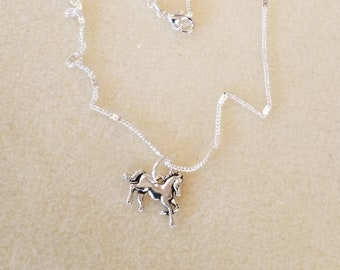 Child's Silver Stalion Necklace