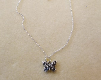 Child's Silver Butterfly on Silver Chain