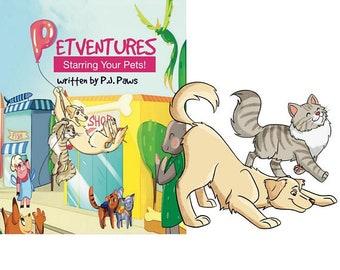 Personalized Pet Book, rhodesian ridgeback, ridgeback, rhodesian puppy, custom pet portrait, dog portrait custom, gifts for dog lovers,