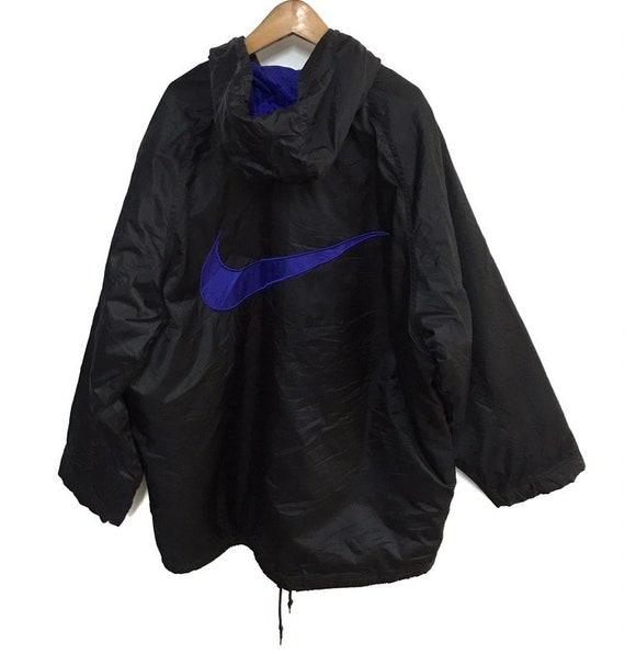 Vtg nike swoosh winter hoodie jacket - image 1