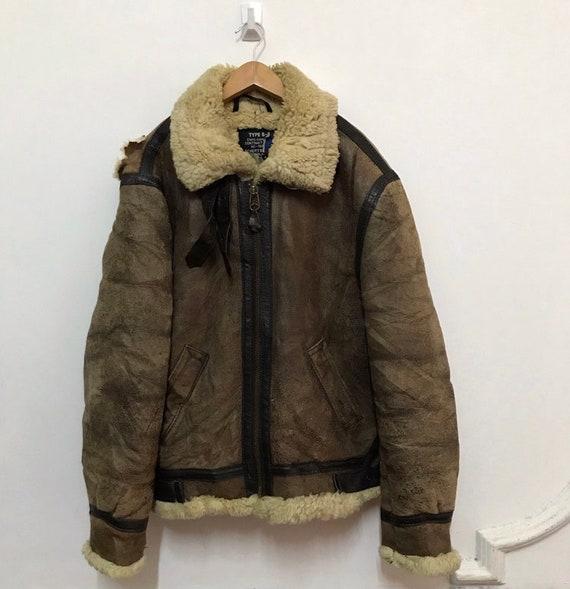 Vintage schott type b-3 sheepskin jacket