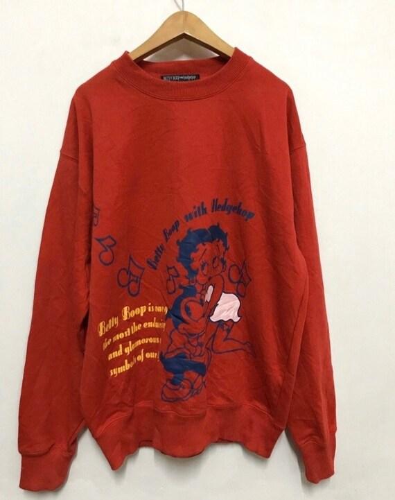 Betty boop with hedgehop sweatshirt L