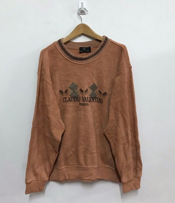 Italian designer Claudio Valentino sweatshirt