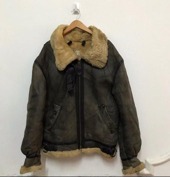 Vintage B-3 sheepskin jacket