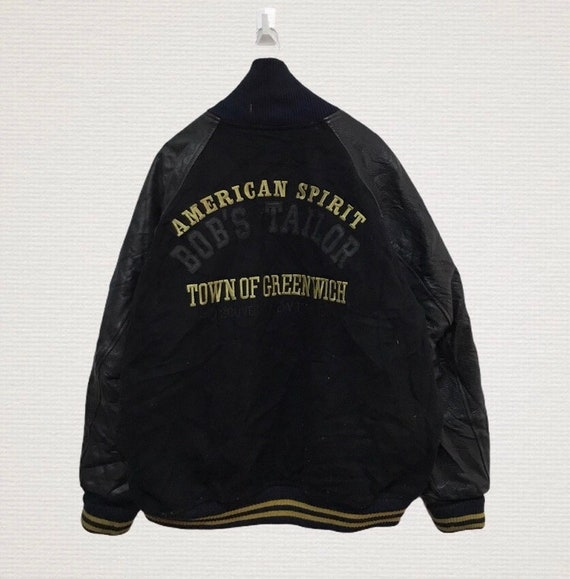 Vintage bob Taylor varsity jacket leather hand