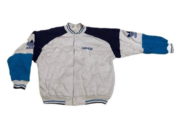 Vintage adidas snap button varsity jacket
