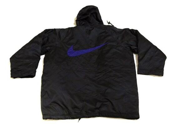 Vtg nike swoosh winter hoodie jacket - image 9
