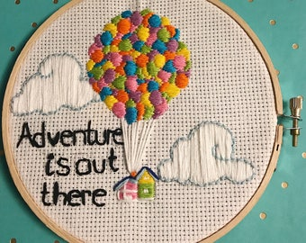 Up Adventure Is Out There Hoop Embroidery