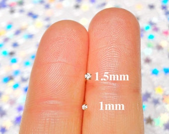 24K Gold MICRO Nose Stud Diamond Gold Nose Stud 22g Nose Stud Gold Nose Ring Nose Studs Tiny Nose Rings and Studs Small Nose Stud L Shaped