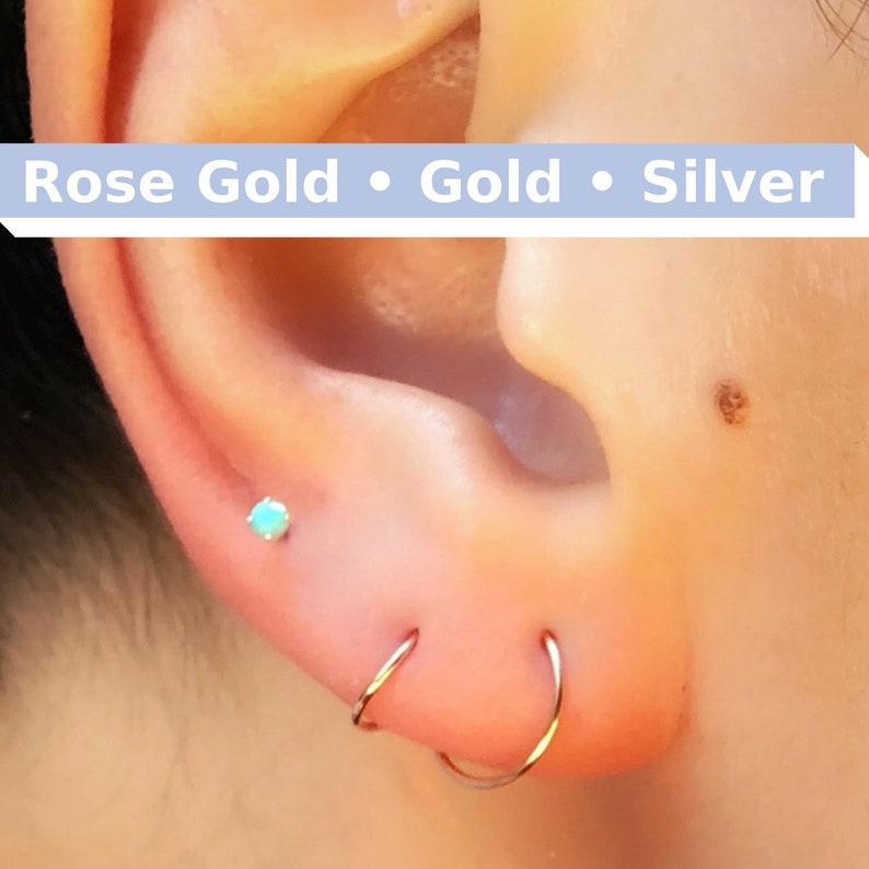 93816d54c2752 TINY Hoop Earrings Huggie Hoops Small Gold Huggies Seamless Earring Hoop  Mini Hoops Silver Hoop Earrings Gold Rose Gold Hoop Earrings