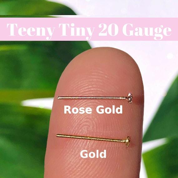 Tiny 20 Gauge Nose Stud L Shaped Nose Ring 20g Nose Stud Etsy