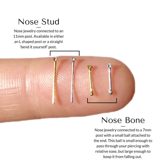 Tiny Nose Stud 22 Gauge Nose Studs Nose Ring Gold Nose Ring Etsy