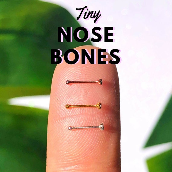Tiny Super Sparkly Nose Studs In Rose Gold Silver Or Gold Etsy