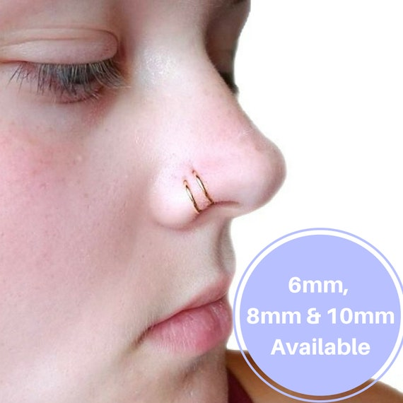 Septum Ring Nose Hoop Endless Ring Double Nose Piercing Nose Etsy