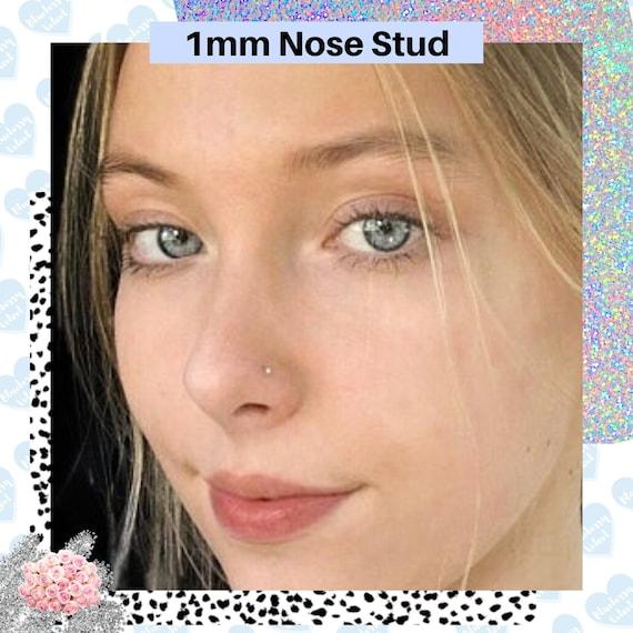 Minimalist Nose Stud 1mm Tiny Nose Stud Tiny Nose Stud Etsy