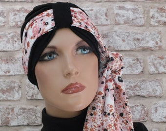 Chemo Jersey Hat Headwear  Turban and scarf for hair loss Cancer Leukemia