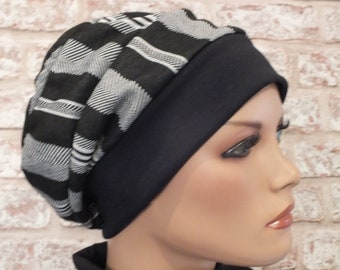 Hair Loss Chemo Leukemia Jersey Hat Headwear for Cancer Reverserable 2 in 1