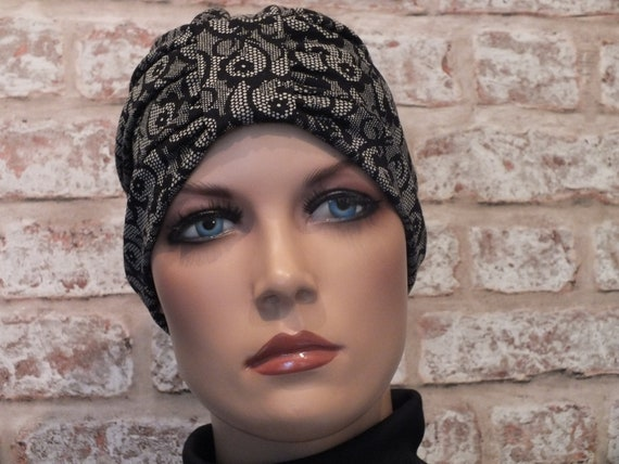 Reversible 2 in 1 Leukemia Hair Loss Chemo Jersey Hat Head wear for Cancer