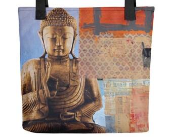 Buddha Mind Modern Art Tote Bag