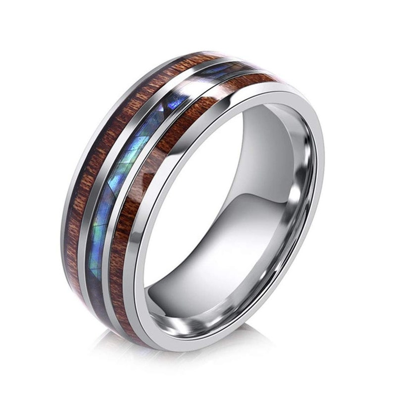 wood ring bentwood ring titanium wood ring nature ring wooden ring fathers day gift wood engagement ring handmade jewelry