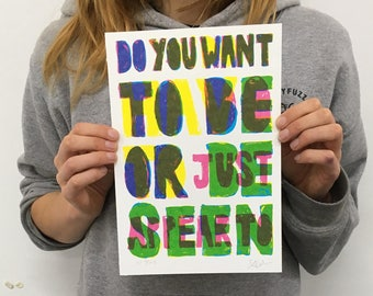 Do You Want To (purple to green) print