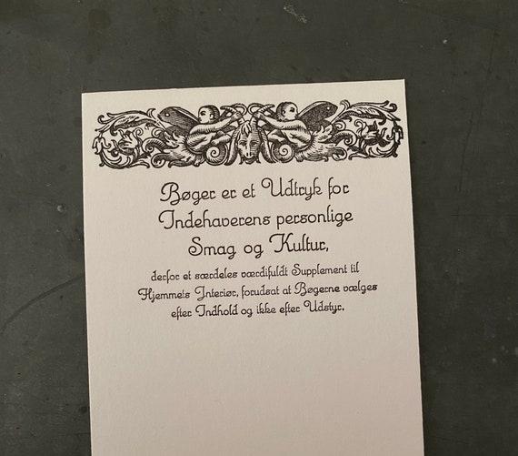 Bookmark vintage letterpress